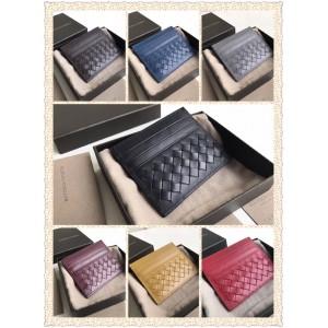Bottega Veneta BV classic short woven leather card holder