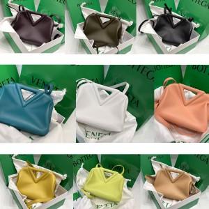 Bottega Veneta BV triangle small POINT handbag 658476