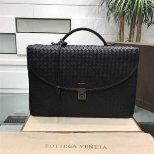 Bottega Veneta bv business office flip leather briefcase 65351