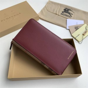 Burberry New Long Leather Large Zip Wallet 39961931