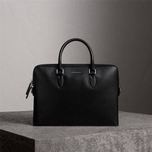 Burberry Men's New London Leather The Barrow Briefcase