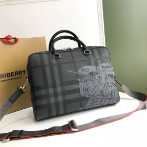 Burberry New Men's Bag London Checked Warhorse Briefcase 8005525