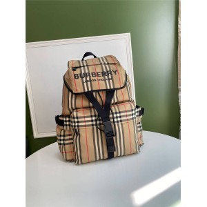 Burberry official website vintage check print backpack 80103721/80147511