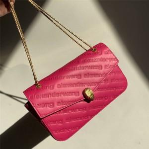 Alexander Wang x Bvlgari joint female bag embossed chain bag