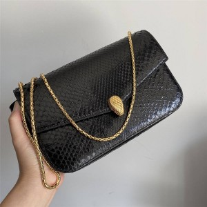 Alexander Wang x Bvlgari joint official website snakeskin chain bag