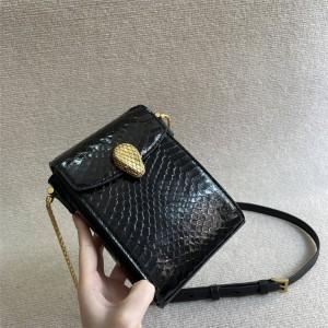 Alexander Wang x Bvlgari joint snakeskin phone bag