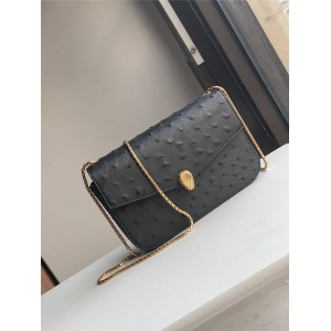 Alexander Wang x Bvlgari joint purchase of ostrich leather chain bag