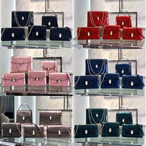 bvlgari patent leather mirror Serpenti Forever single-shoulder messenger bag