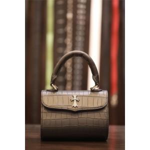 Chrome hearts CH crocodile leather cross portable messenger bag