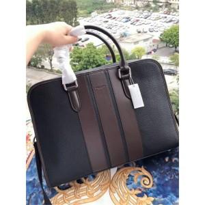 Coach men's bag color matching striped laptop briefcase 72309/72308