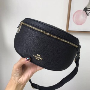 Coach official website handbag full leather belt bag waist bag chest bag 39939