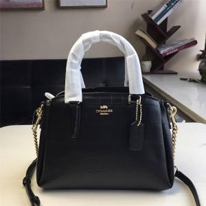 Coach official website handbag crocodile pattern shoulder bag small trumpet bag 31438