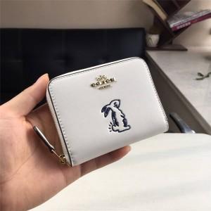 Coach wallet new rabbit Selena zip coin purse 39319/39317