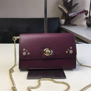 Coach handbag new leather MARLOW twist lock chain Messenger bag 36962