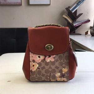Coach factory grassland flower print PARKER 16 deformable backpack 53087