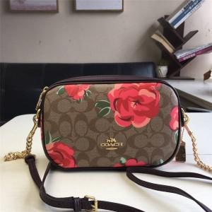 Coach handbag new PVC printing diagonal shoulder camera bag 34311