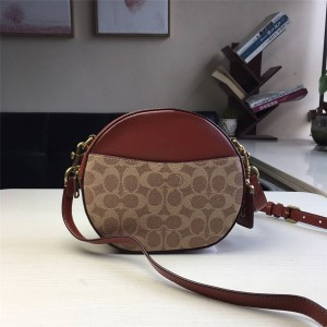 Coat handbag new CANTEEN PVC spell leather small round bag cosmetic bag 38680