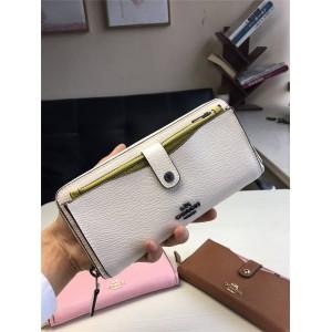 Coach long wallet new leather multi-card zipper child wallet 25967