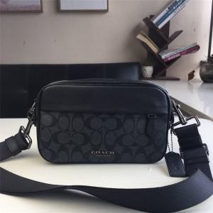 COACH men's bag PVC spell leather Graham Crossbody camera bag 50715