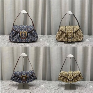 celine new middle age series denim shoulder bag