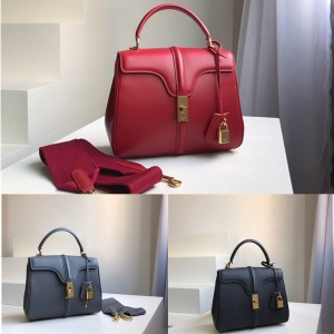 Celine 16 small/medium satin calfskin handbag 187373/188003