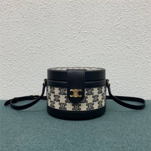 celine medium TRIOMPHE embroidered fabric handbag 195192