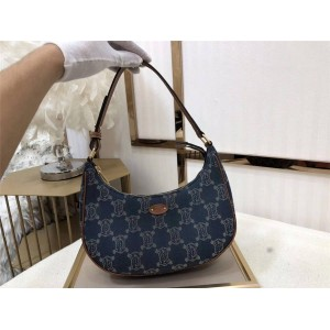 celine official website AVA TRIOMPHE denim handbag 193952