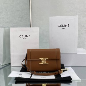 celine TRIOMPHE cow leather strap bag messenger bag 195263