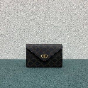 celine MAILLON TRIOMPHE artificial leather chain wallet 10F822