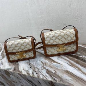 celine TEEN TRIOMPHE canvas with calfskin handbag 18888/191242