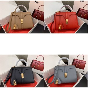 celine official website 16 small grained cow leather handbag 188003
