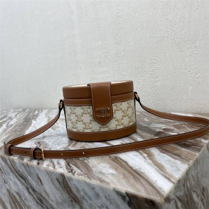 celine TAMBOUR TRIOMPHE faux leather medium handbag 195192