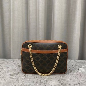 Celine TRIOMPHE artificial leather medium PATAPANS handbag 195452