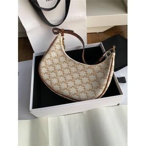 celine AVA logo print handbag one-shoulder armpit bag 193952