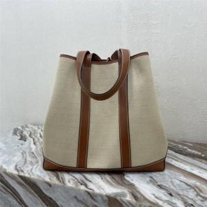 celine CABAS MARIN fabric and cow leather handbag 196742