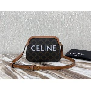celine new TRIOMPHE canvas small camera bag 191522