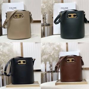celine BUCKET MAILLON TRIOMPHE cow leather bucket bag 193043