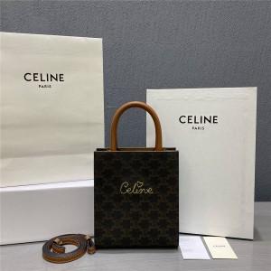 Celine CABAS heart-shaped TRIOMPHE mini vertical handbag 194372