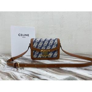 celine small TEEN TRIOMPHE canvas and leather handbag 188423