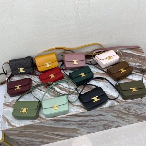 celine new TRIOMPHE NANO shiny leather handbag 191903
