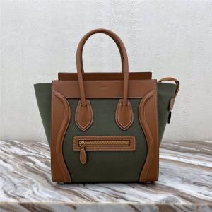 Celine LUGGAGE NANO/MICRO fabric and cow leather handbag 189242/189792