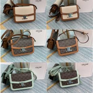 celine official website Teen Triomphe fabric canvas handbag 188882/191242