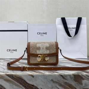 Celine TRIOMPHE canvas diagonal shoulder bag 187366/188423