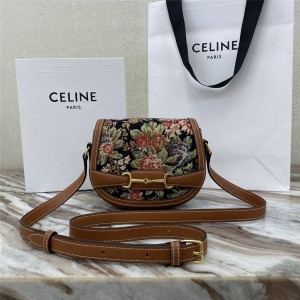 celine official website embroidered flowers CRÉCY small handbag 191363