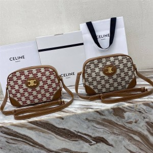 celine official website TRIOMPHE embroidered fabric camera bag 194332