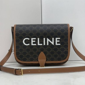 celine new FOLCO logo printed messenger bag 193902