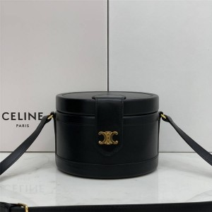 celine TAMBOUR medium calfskin handbag black 195192