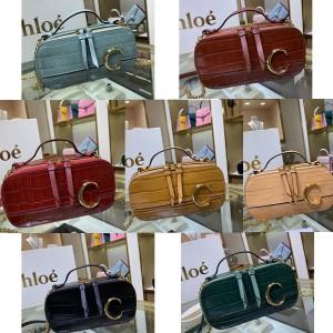 chloe official website new C Bag crocodile pattern cosmetic bag chain bag