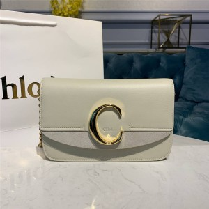 chloe official website new leather C Bag small chain bag