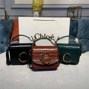 chloe new C Bag crocodile embossed handbag diagonal bag